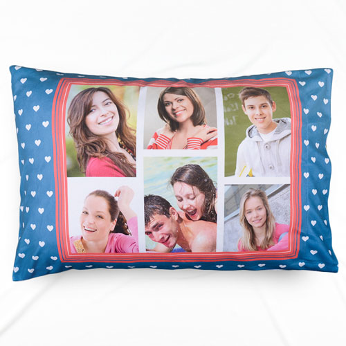 Six Collage Personalized Photo Pillowcase