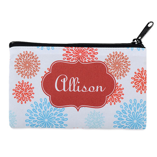 Sea Floral Personalized Cosmetic Bag 4X7