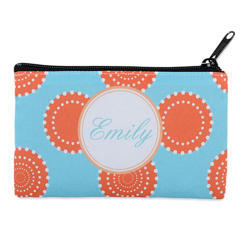 Artistic Floral Personalized Cosmetic Bag Medium