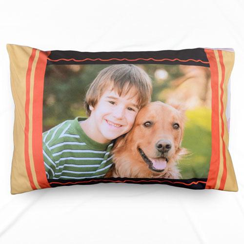 Mustard Personalized Photo Pillowcase