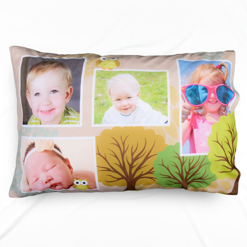 Photo Collage Forest Personalized Pillowcase