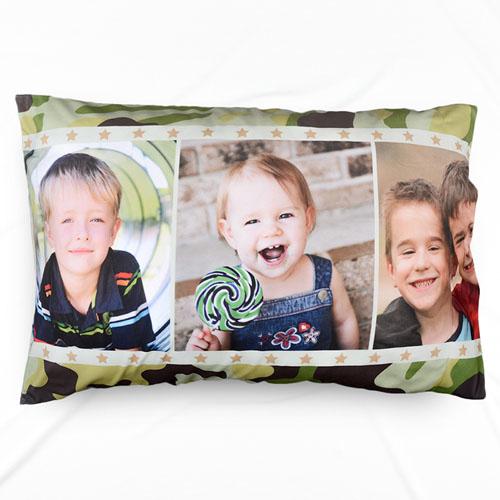 Three Collage Personalized Photo Pillowcase