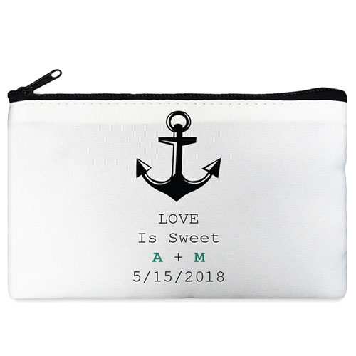 Anchor Personalized Cosmetic Bag Medium