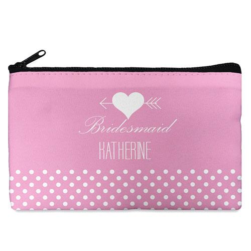 Arrow Heart Personalized Cosmetic Bag Medium