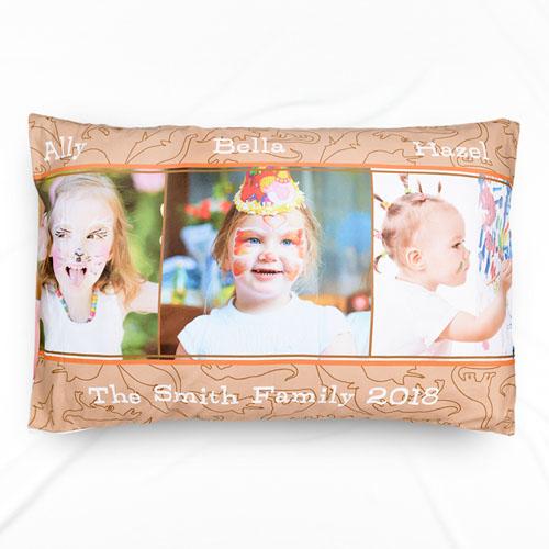 Dinosaur Photo Collage Personalized Pillowcase