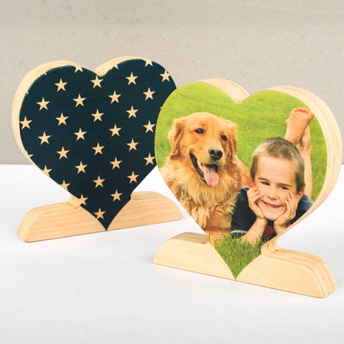 Star Wooden Personalized Photo Heart Decor