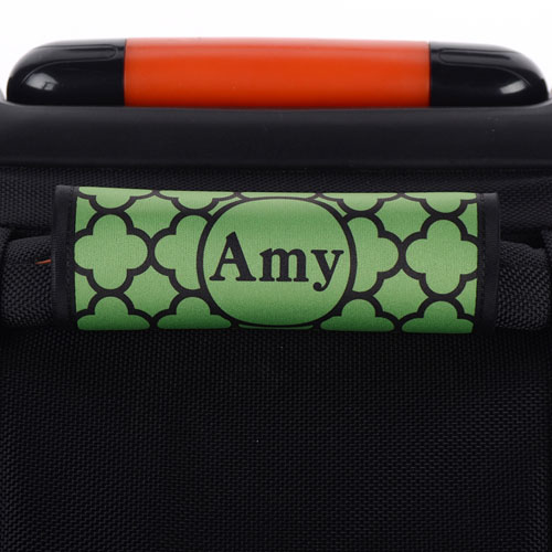 Green Clover Personalized Luggage Handle Wrap