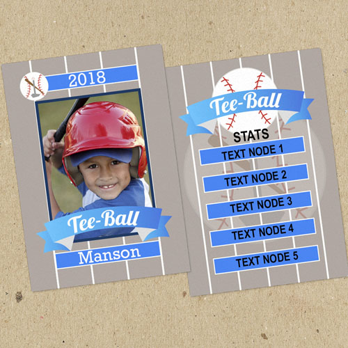 Tee Ball Personalized Photo Trading Cards  Set Of 12