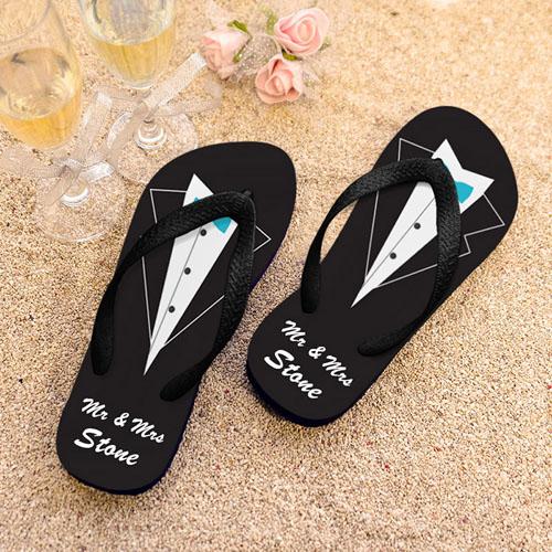 Wedding Flip Flops.Mr Personalized Wedding Flip Flops Men Medium