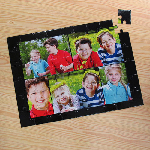 Personalized Black 5 Collage 12X16.5 Photo Puzzle