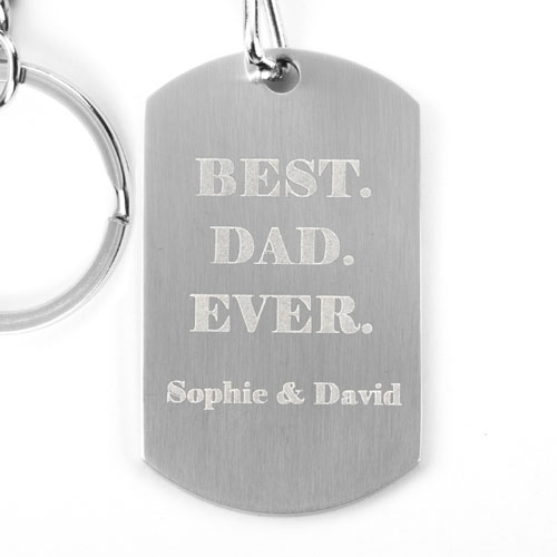 Personalized Engraved Metal Keychain Portrait (1 Side)