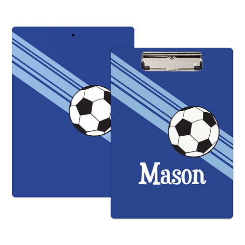 Royal Blue Soccer Coach Personalized Clipboard