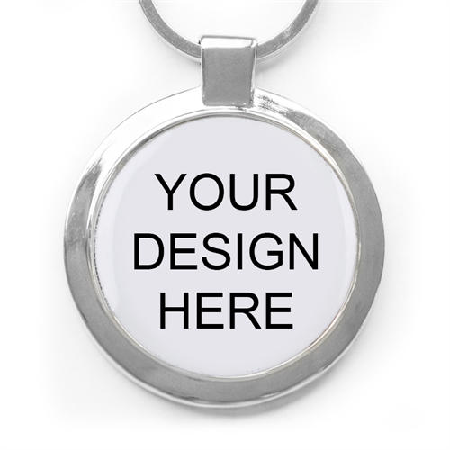 Custom Full Color Imprint Round Metal Keychain (Large)