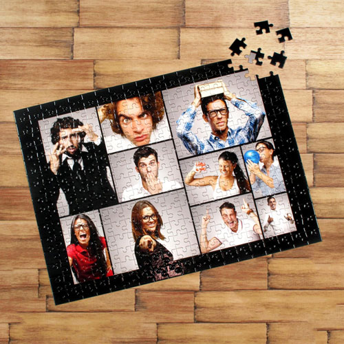 Personalized Black Ten Collage 12X16.5 Personalized Photo Jigsaw Puzzle Photo Puzzle