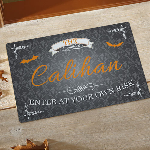 Enter At Your Own Risk Personalized Doormat