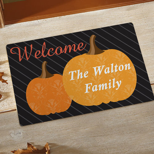 Fall Welcome Personalized Doormat