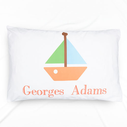 Boat Personalized Name Pillowcase