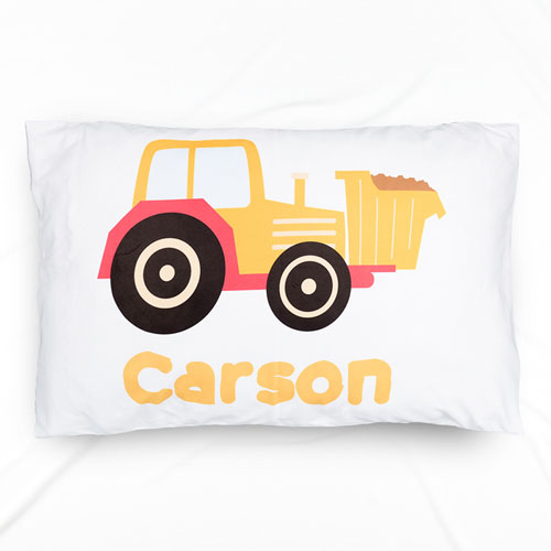 Dumper Truck Personalized Name Pillowcase