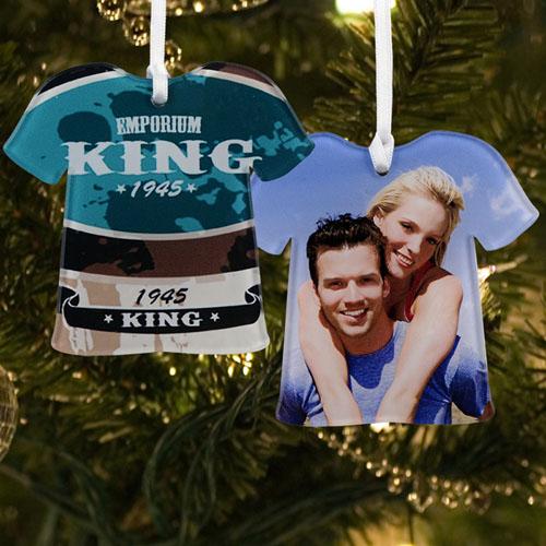 Personalized Photo Acrylic Ornament T Shirt Shape