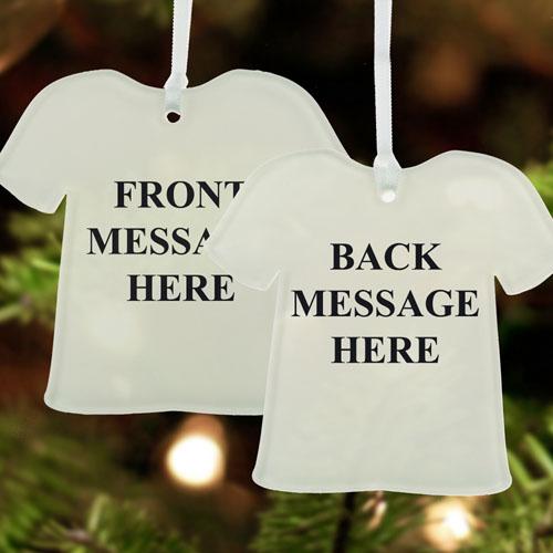 Custom Message Acrylic Ornament T Shirt Shape