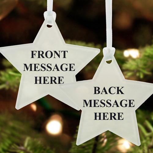 Custom Message Acrylic Ornament Star Shape