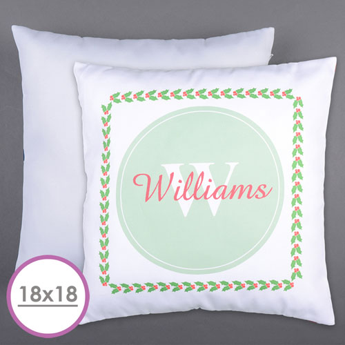 Holly Personalized Family Initial Large Cushion 18