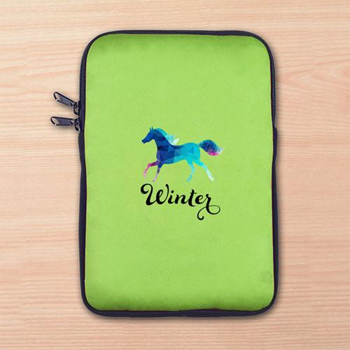 Custom Full Color Print Logo Ipad Mini Sleeve, Lime Green