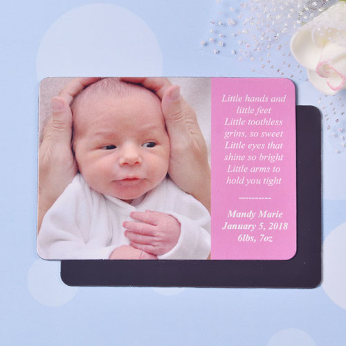 Personalized I Am A Girl Birth Announcement