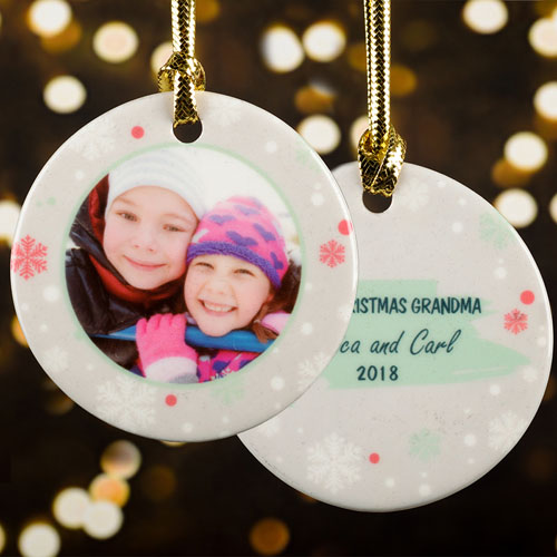 Winter Snowflake Personalized Photo Christmas Ornament