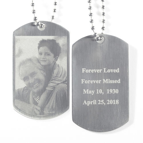 Engrave Photo And Text Dog Tag Pendant