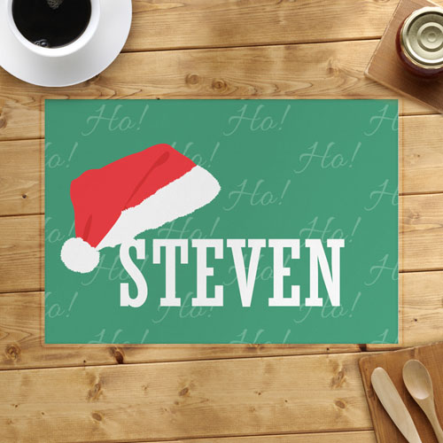 Christmas Hat Personalized Placemat