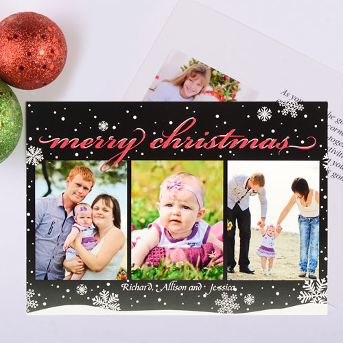 Frosted Season Personalized Photo Christmas Card