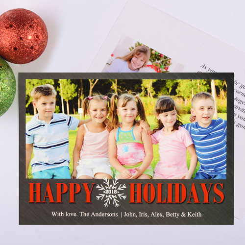 Snowy Season Personalized Photo Christmas Card