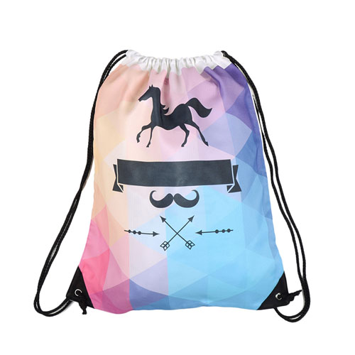 Custom Design Drawstring Backpack View