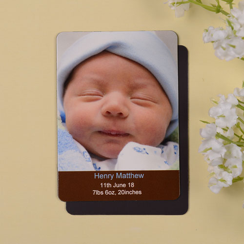 Meet Mr Coco Birth Announcement Photo Magnet