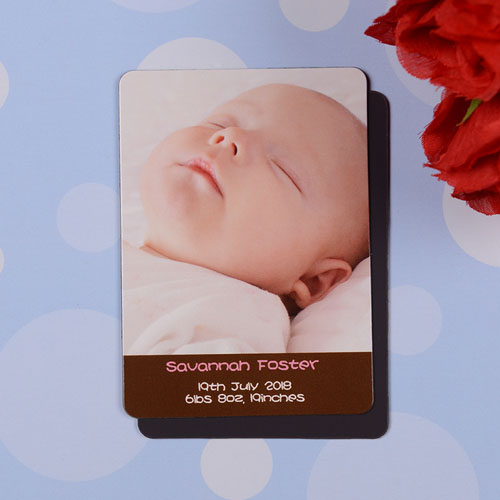 Personalized Meet Miss Coco Birth Announcement Photo Magnet