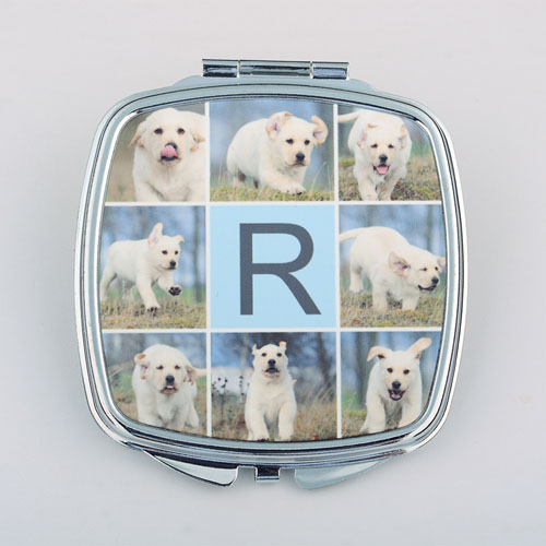 Eight Collage Personalized Square Compact Mirror