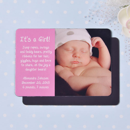 Personalized First Girl Birth Announcement