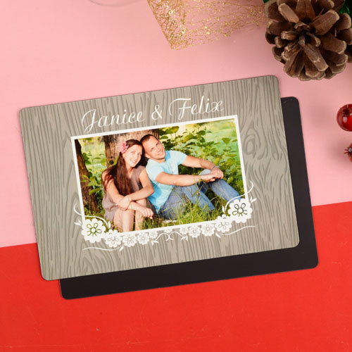 Woody Personalized Christmas Photo Magnet 4x6 Large