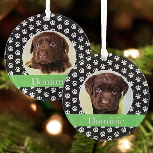 Dog Pet Personalized Photo Acrylic Round Ornament