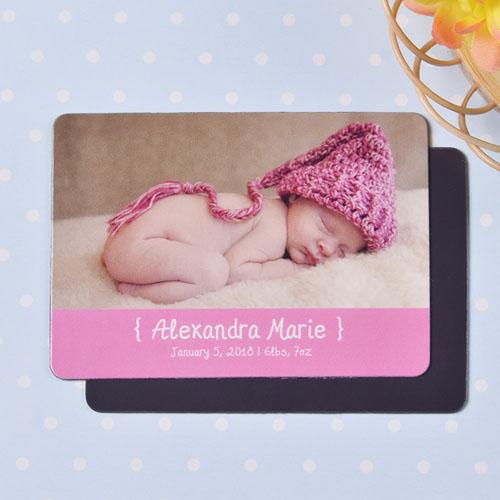 Personalized Hello Girl Birth Announcement