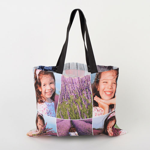 All Over Print Collage Tote Bag 11X14