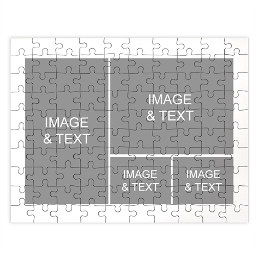 Personalized White 4 Collage 12X16.5 Photo Puzzle