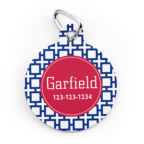 Navy Cross Personalized Pet Tag Round Shape