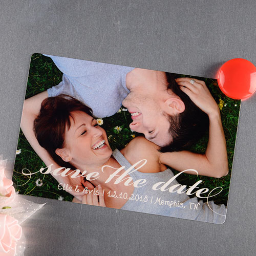 Personalized Photo Save The Date Magnet 4x6 Large