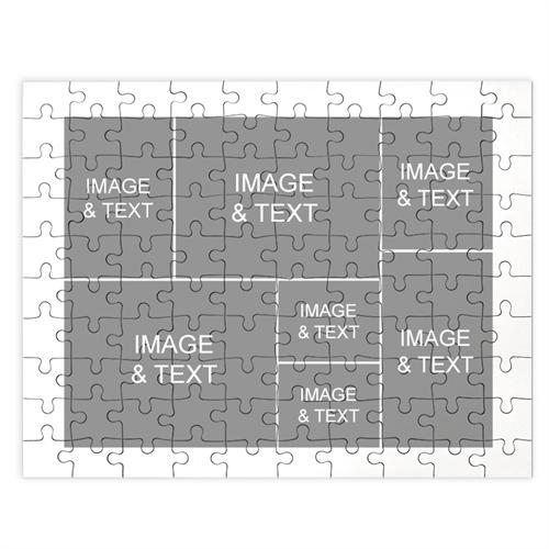 Personalized White 7 Collage 12X16.5 Photo Puzzle