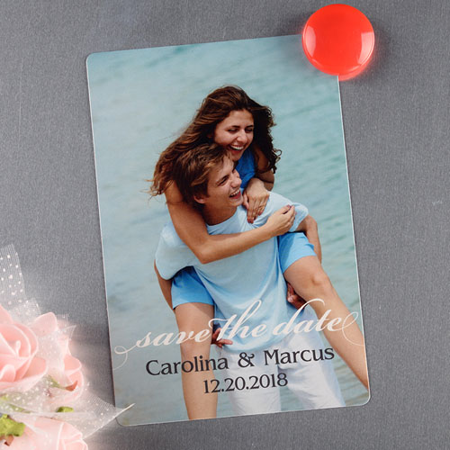 Portrait Personalized Photo Save The Date Magnet 4x6 Large