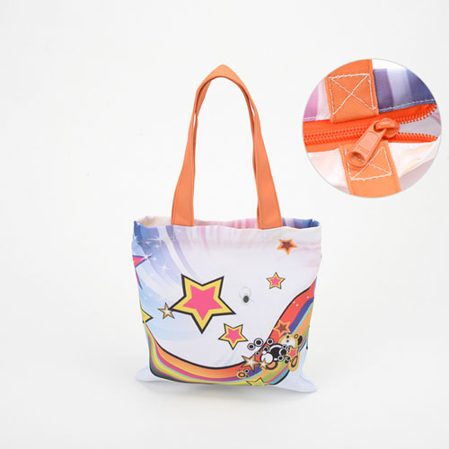 All Over Print Tote Bag With Zipper 9X9