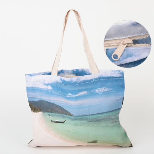 All Over Print Tote Bag With Zipper 11X14