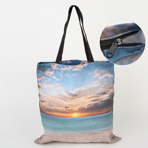 All Over Print Tote Bag With Zipper 16